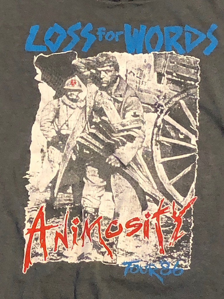 1986 Tour Shirt Corrosion of Conformity Animosity Tour Loss for Words T Shirt 14.jpg