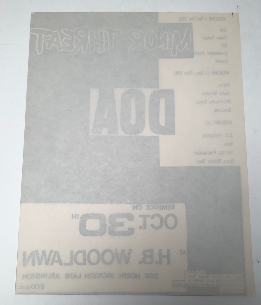 Minor Threat and DOA October 30th 1981at H.B. Woodlawn in Arlington VA Punk Flyer 8.jpg