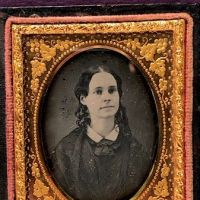 Ninth Plate  Daguerreotype in Case By Tyler and Co. Boston Woman Portrait in Ornate Mat 9.jpg