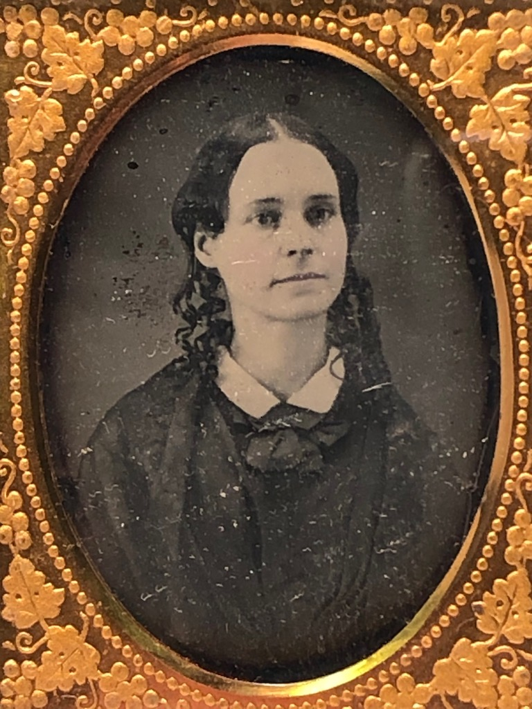 Ninth Plate  Daguerreotype in Case By Tyler and Co. Boston Woman Portrait in Ornate Mat 5.jpg