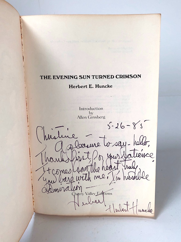 Signed Herbert Huncke Evening Sun Turned Crimson Cherry Valley Edititions 10.jpg