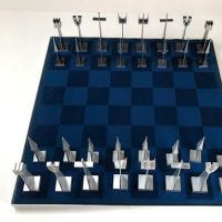 Austin Cox Enterprises Modernist Chess Set 1962 Aluminum Alcoa 15.jpg
