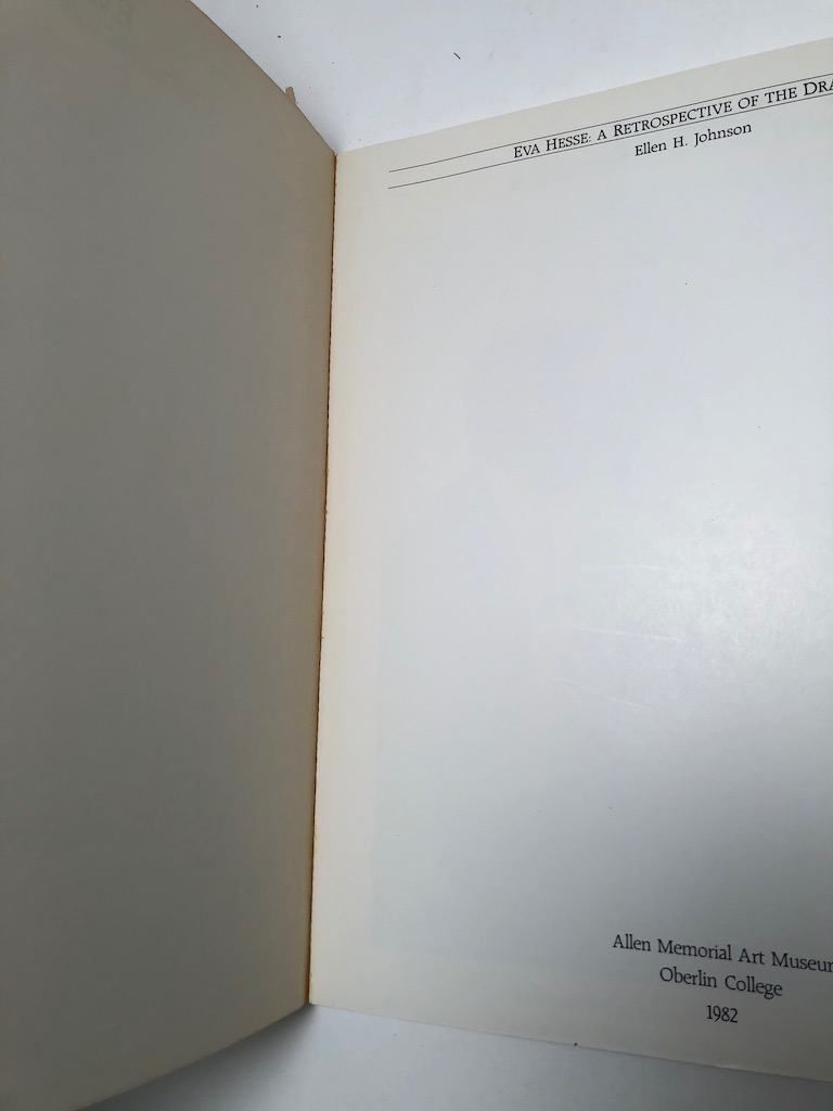 Eva Hesse A Retrospective of The Drawings 1982 Exhibition Catalogue 4.jpg