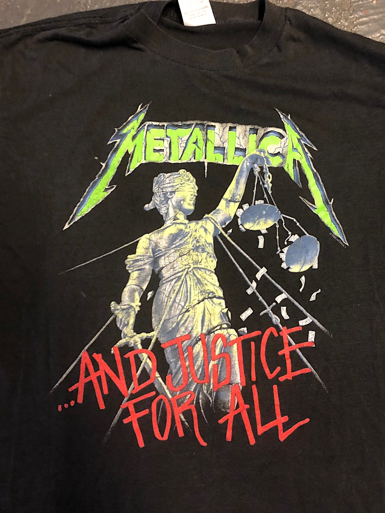 Metallica and Justice For All Tour 1989 Tour Shirt XL Spring Ford Black 2.jpg