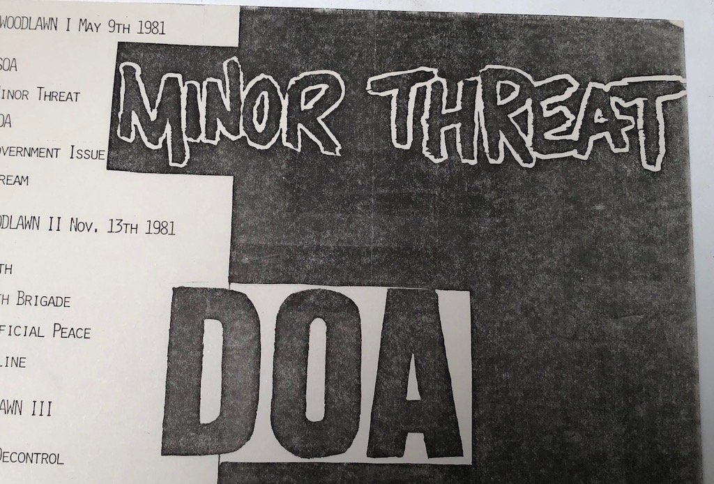 Minor Threat and DOA October 30th 1981at H.B. Woodlawn in Arlington VA Punk Flyer 5.jpg