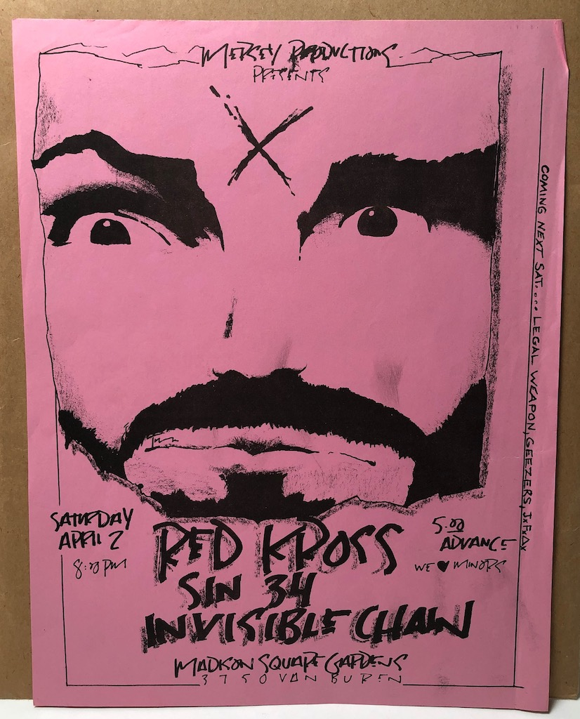 Red Kross Sin 34 Invisible Chain Saturday April 2 1983 Mason Flyer 1.jpg