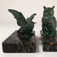 Austrian Cold Painted Bronze Bookends of Owls 2.jpg