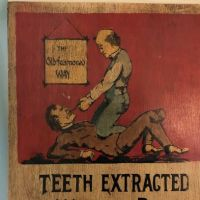 O.B. Comfort Dentist Painted Wooden Sign 2.jpg