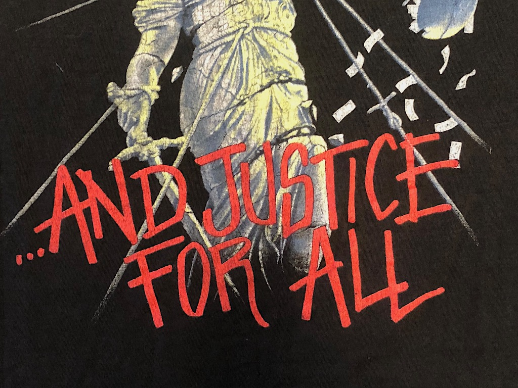 Metallica and Justice For All Tour 1989 Tour Shirt XL Spring Ford Black 3.jpg