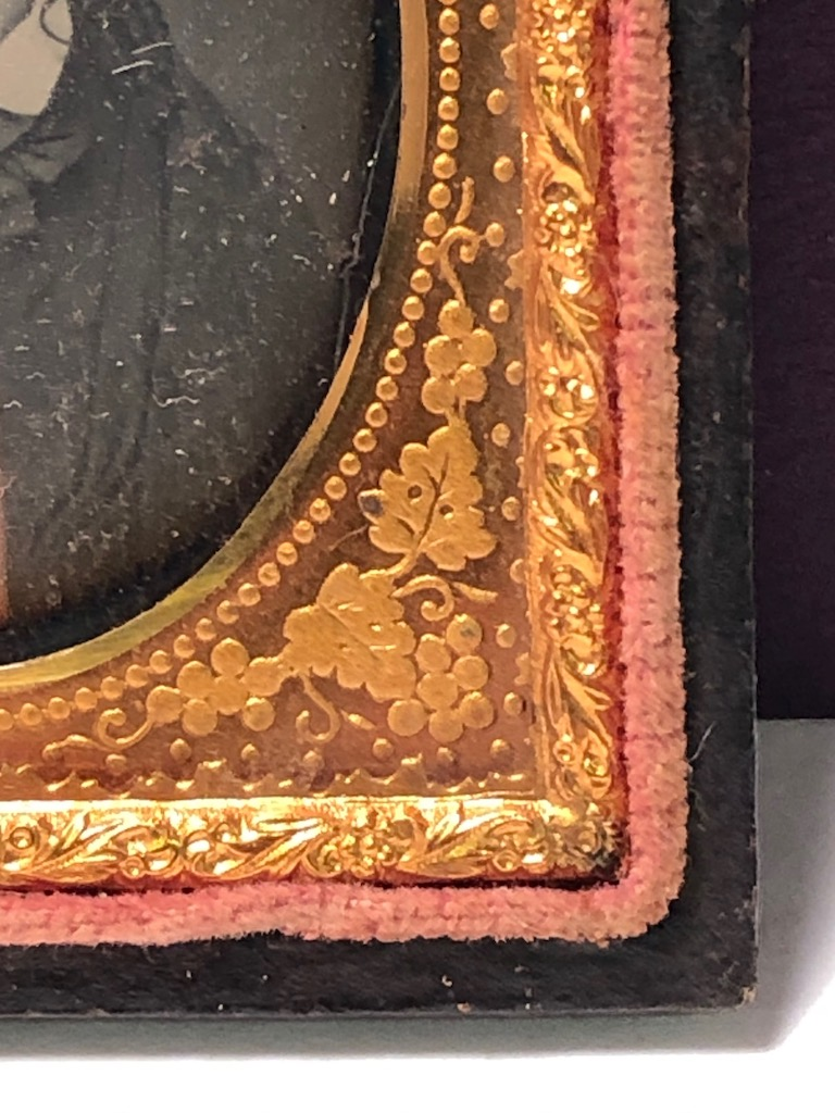 Ninth Plate  Daguerreotype in Case By Tyler and Co. Boston Woman Portrait in Ornate Mat 7.jpg