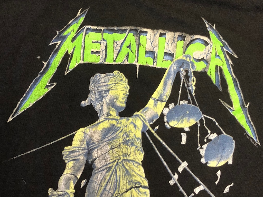 Metallica and Justice For All Tour 1989 Tour Shirt XL Spring Ford Black 4.jpg