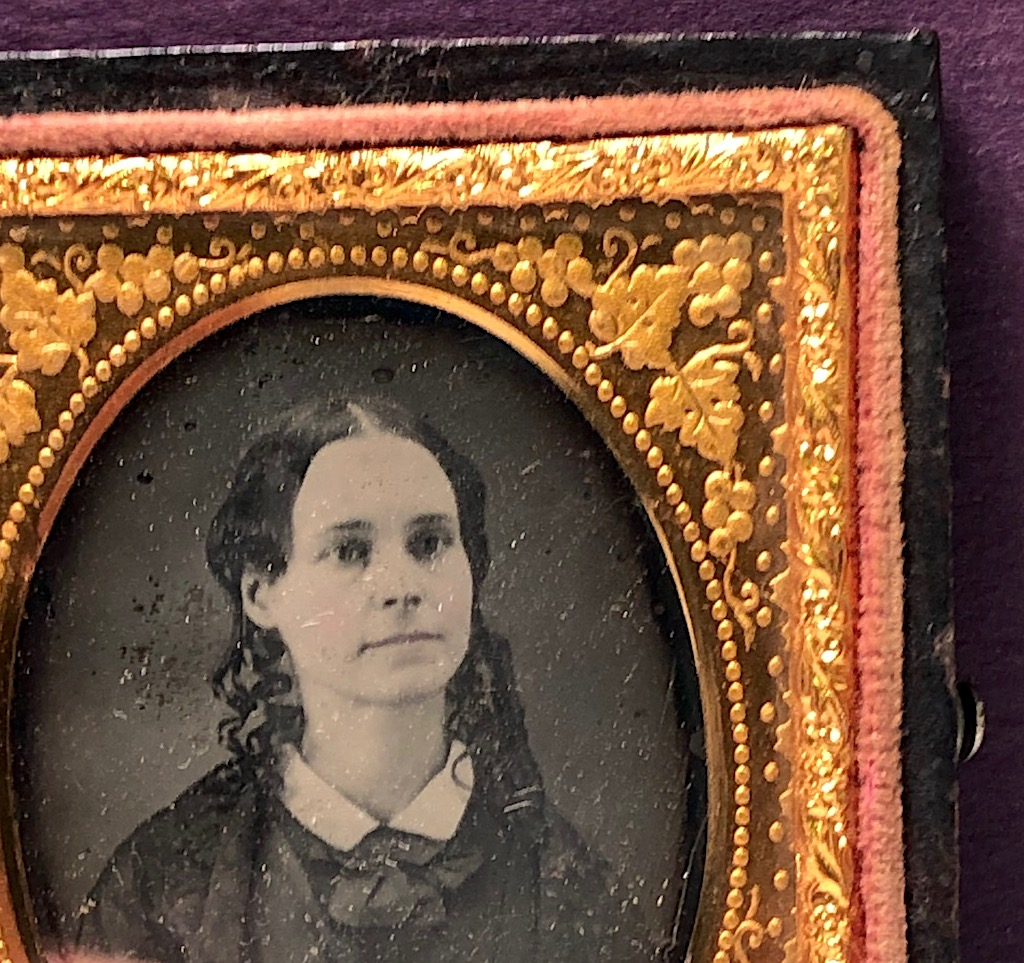 Ninth Plate  Daguerreotype in Case By Tyler and Co. Boston Woman Portrait in Ornate Mat 8.jpg