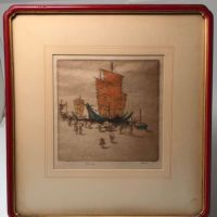 Dorsey Potter Tyson Pencil Signed Numbered Title Junks and Coolies In Original Frame 1.jpg