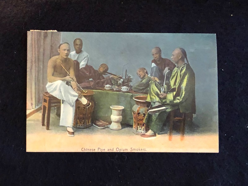Chinese Pipe and Opium Smokers  Postcard M Sternbergn 2.jpg