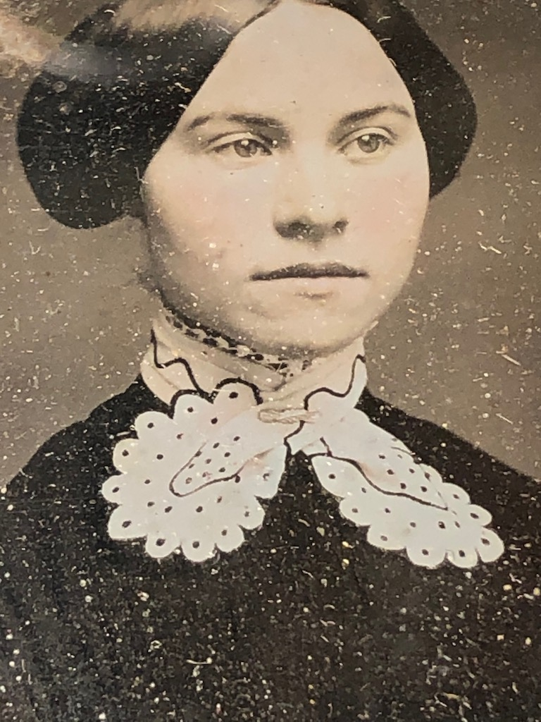 Ninth Plate Daguerreotype Hand Tinted Woman with Large White Lace Collar 11.jpg