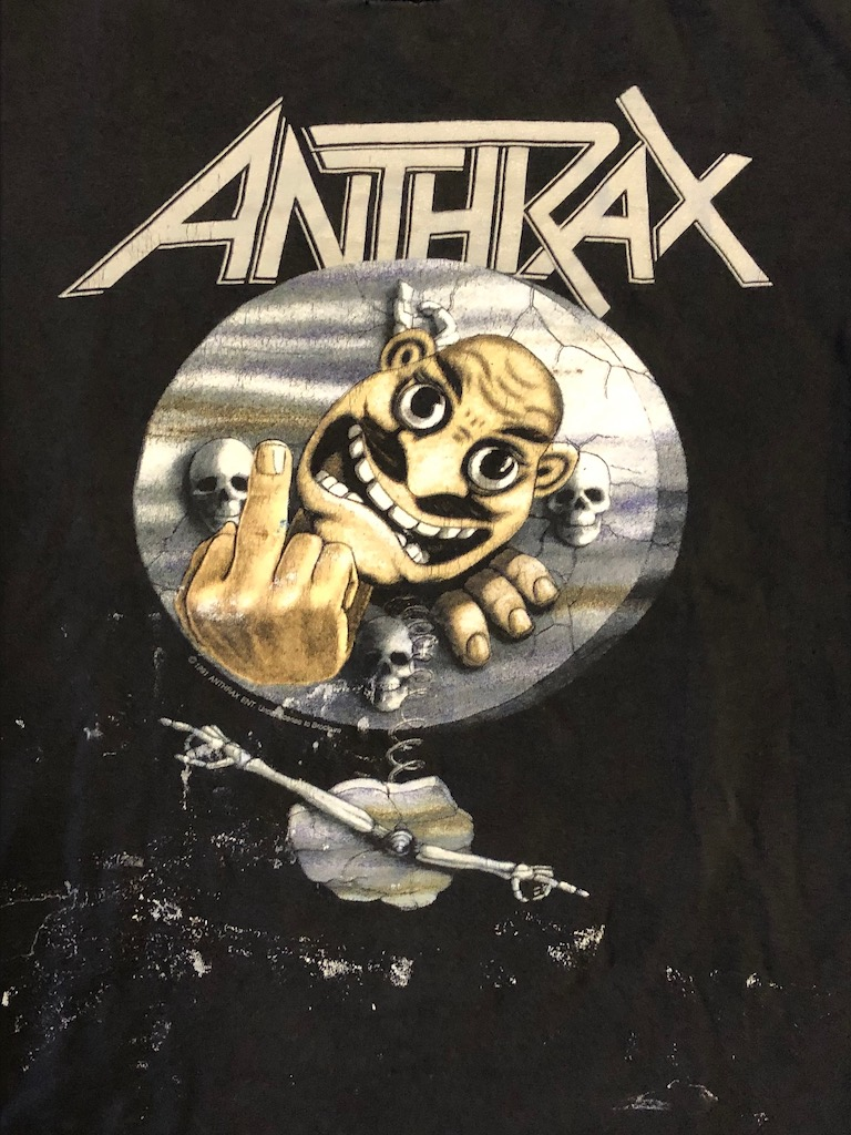 Vintage 1991 Anthrax Persistence Of Time Not Man T Shirt Brockum Tag 2.jpg