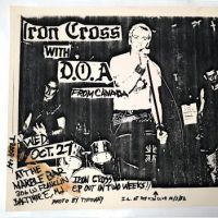 Iron Cross and DOA Wed October 27 1982 Marble Bar Baltimore MD Punk Flyer 1.jpg