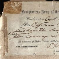 October 14 1861 Army of The Potomac Pass signed by Seth Williams Civil War 1.jpg