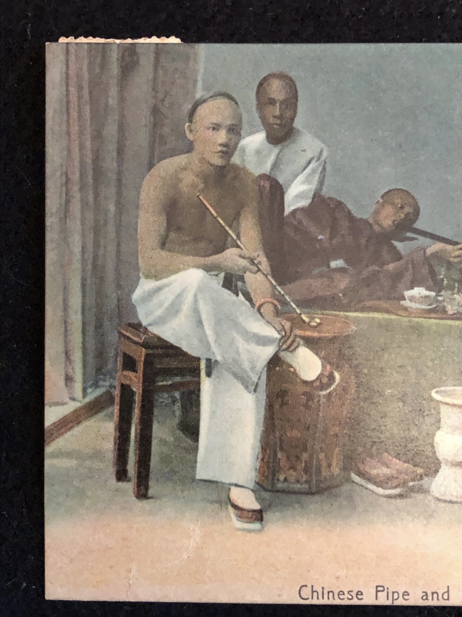 Chinese Pipe and Opium Smokers  Postcard M Sternbergn 3.jpg