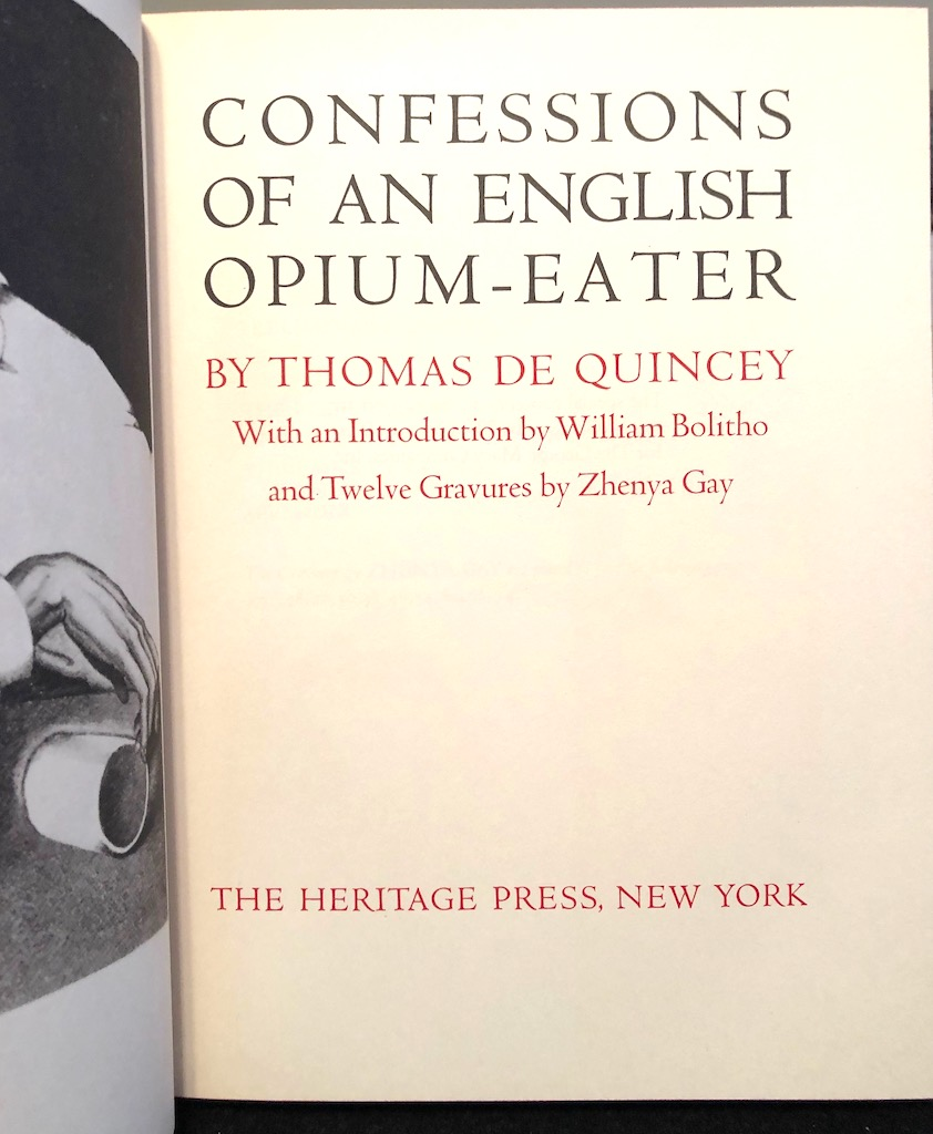 Confessions of An English Opium Eater by De Quincey Heritage Press Zhenya Gay Slip Case 1.jpg