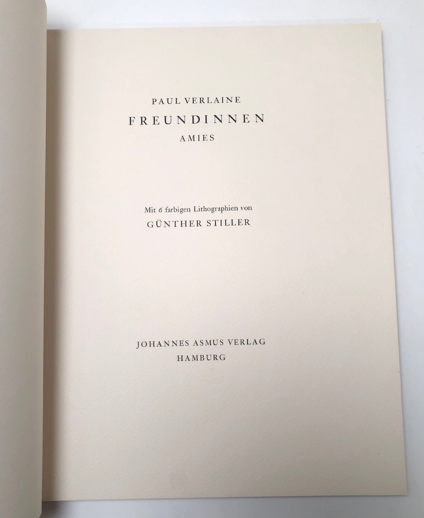 Paul Verlaine Amies Freundinnen Numbered 125 Pencil Signed Gunther Stiller 9.jpg