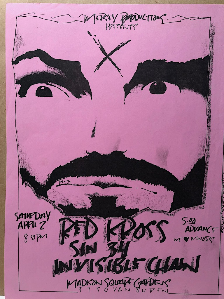 Red Kross Sin 34 Invisible Chain Saturday April 2 1983 Mason Flyer  6.jpg