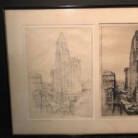 Anton Schutz Original Drawing and Etching Framed and Matted The Spirt of Baltimore, 1930 1.jpg