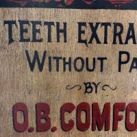 O.B. Comfort Dentist Painted Wooden Sign 7.jpg