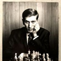 Philippe Halsman Stamped Signed Bobby Fisher Wtih Chess Set 1.jpg