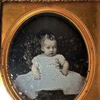 Sixth Plate Daguerreotype of Baby Very Early Baltimore Photographer Signed Pollock  4.jpg