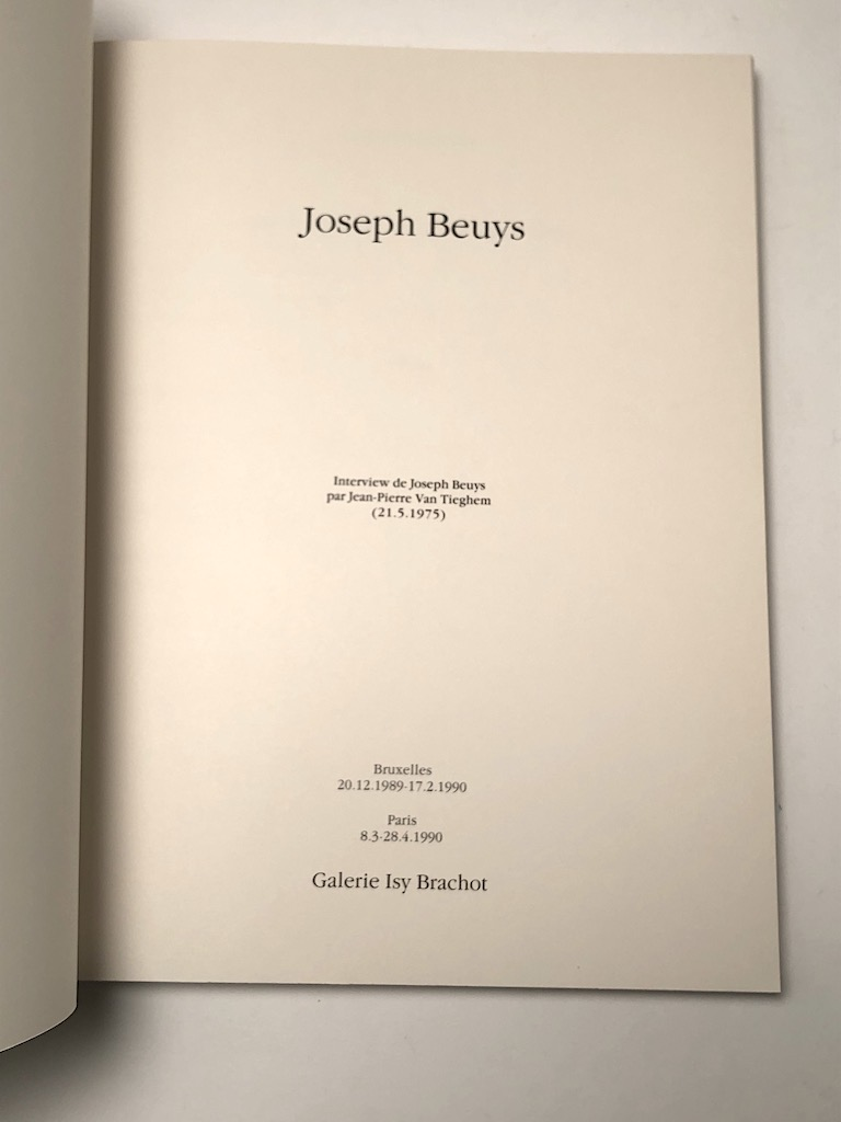 Joseph Beuys Pub by Galerie Isy Brachot 1989 Exhibition Catalogue 8.jpg