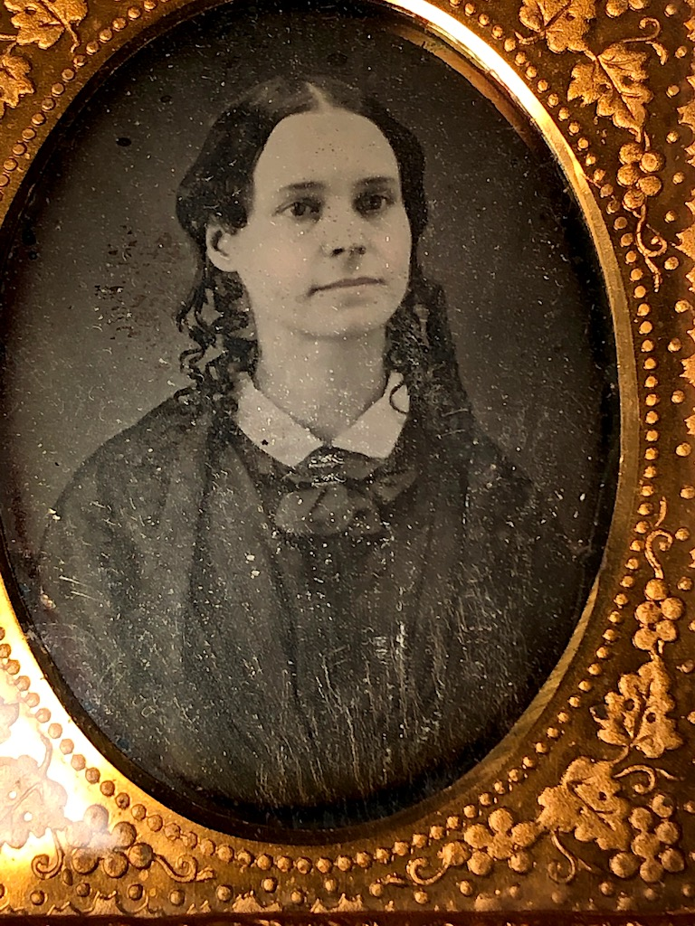 Ninth Plate  Daguerreotype in Case By Tyler and Co. Boston Woman Portrait in Ornate Mat 12.jpg