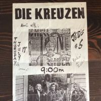 Die Kreuzen flyer with Shell Shock Thursday July 17th 1986 at Jed's 1.jpg