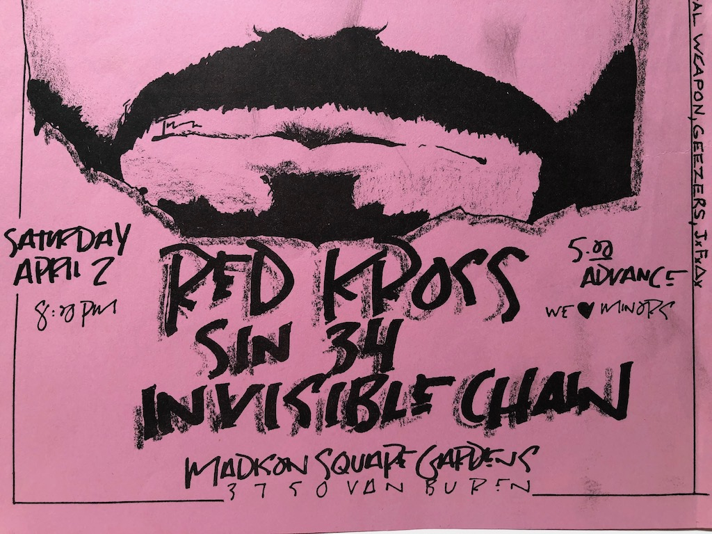 Red Kross Sin 34 Invisible Chain Saturday April 2 1983 Mason Flyer  8.jpg