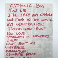 Channel Three Set List on Flyer with Battalion of Saints Saturday December 4th 1982 at The Galzxy 1.jpg