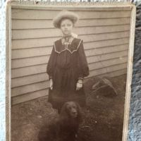 Madsen New York Photographer Young Girl with Her Dog Cabinet Card 1.jpg