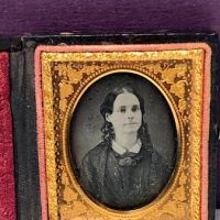 Ninth Plate  Daguerreotype in Case By Tyler and Co. Boston Woman Portrait in Ornate Mat 1.jpg
