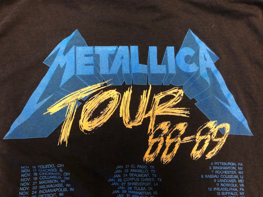 Metallica and Justice For All Tour 1989 Tour Shirt XL Spring Ford Black 11.jpg
