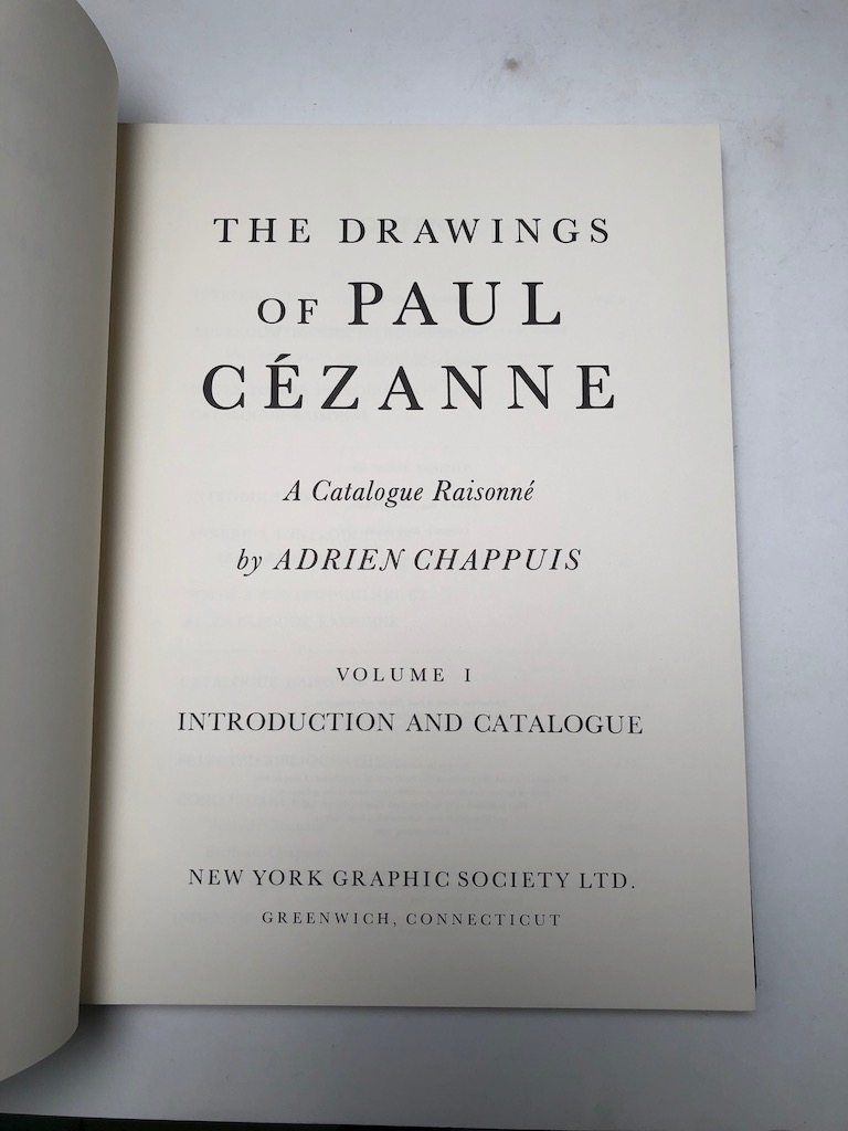 The Drawings of Paul Cezanne a Catalogue Raisonne by Adrien Chappuis 2 volumes in slipcase Pub by New York Graphics Society 1973 9.jpg