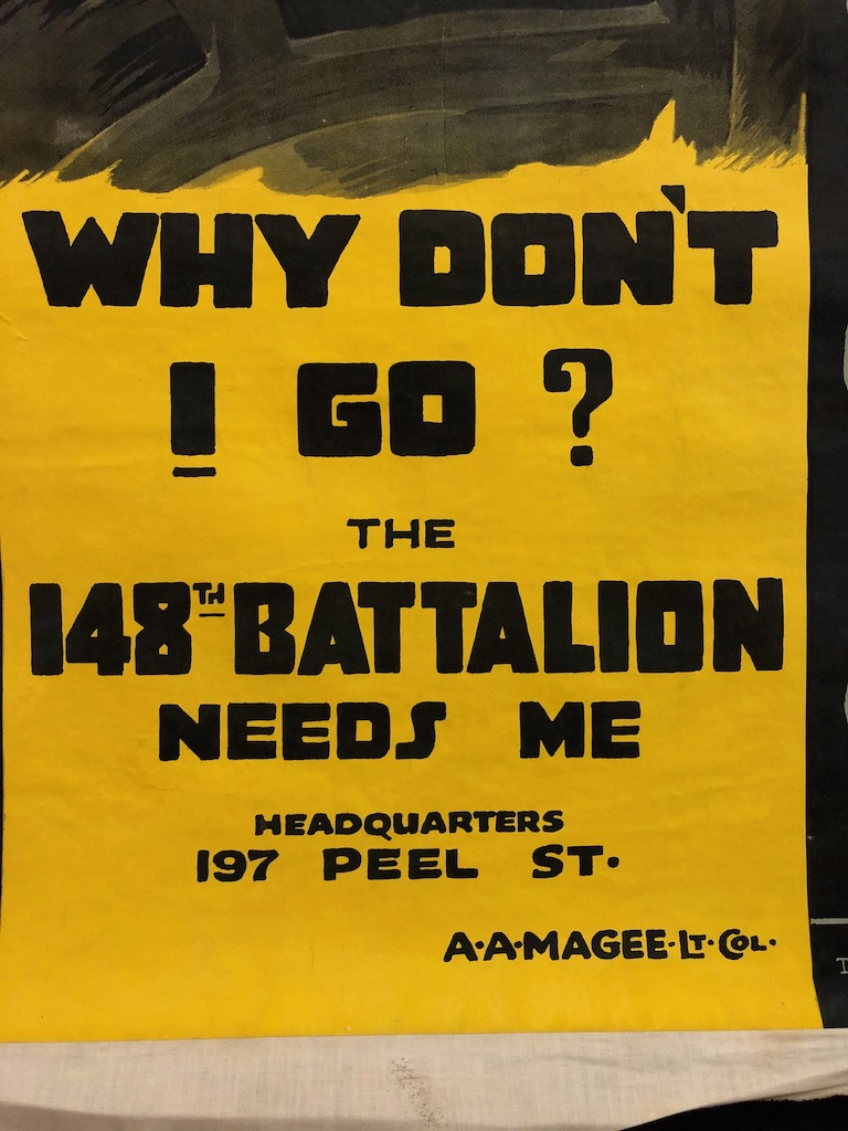 Why Don't I Go? 148th Battalion Needs Me Poster WWI 15.jpg