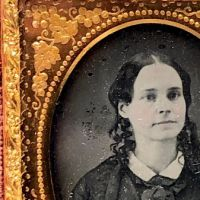 Ninth Plate  Daguerreotype in Case By Tyler and Co. Boston Woman Portrait in Ornate Mat 3.jpg