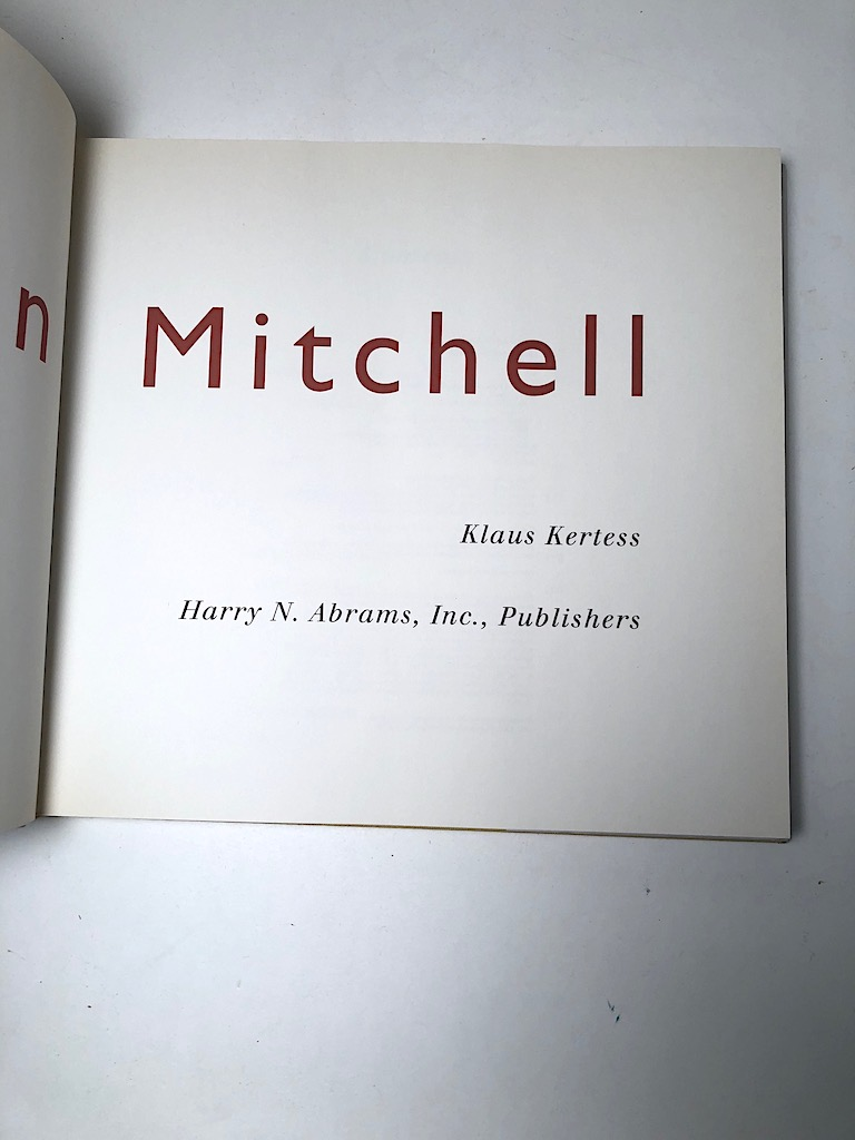 Joan Mitchell by Klaus Kertess. Pub by Harry N. Abrams 1977 First Ed Hardback with Dustjacket 05.jpg