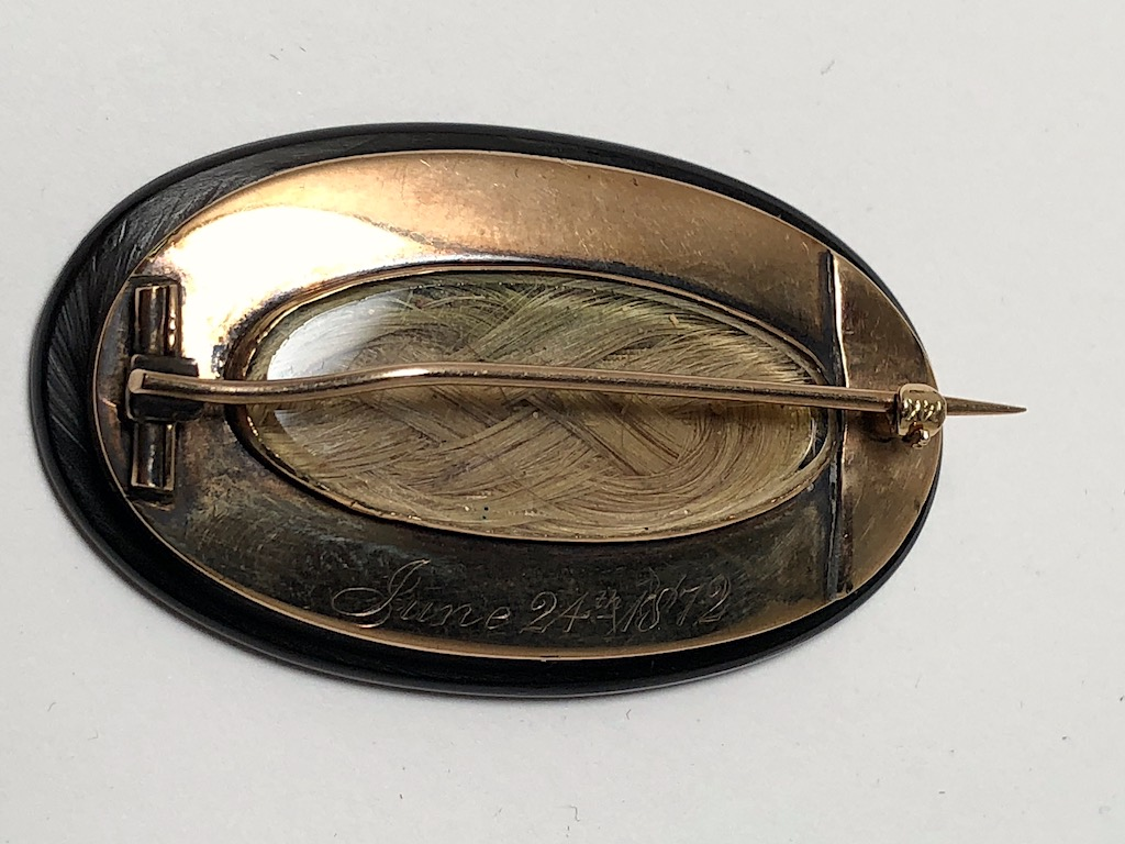 June 24th 1872 Mourning Pin Jet and 14K Gold with Hair Art 7.jpg