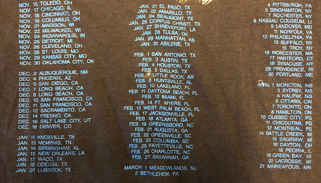 Metallica and Justice For All Tour 1989 Tour Shirt XL Spring Ford Black 13.jpg
