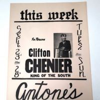 Clifton Chenier King of The South Poster Antone's Texas 1.jpg