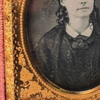 Ninth Plate  Daguerreotype in Case By Tyler and Co. Boston Woman Portrait in Ornate Mat 4.jpg
