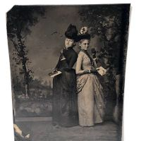 Tintype of Two Woman Eating Chocolates Circa 1880 1.jpg